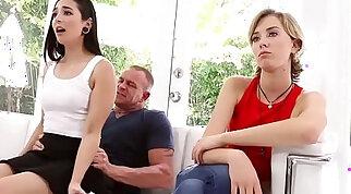 Malina Mars wake step dad with a hot blowjob