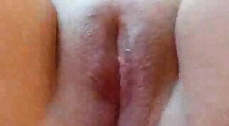 Fat Italian girlfriend fucks her shaved pussy with her boyfriend