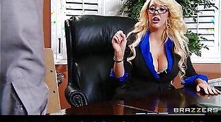 Big boobs blonde milf Emily sucking my dongs