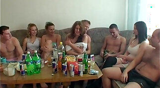 brutal anal orgy party with MIZ and Barrett in the bottom