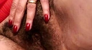 Very hairy breasty granny gives herself up for more