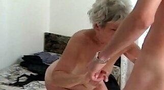 Beautiful mature woman loves old fat schlong cock hard thick