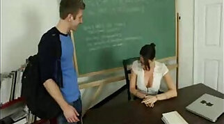 Crazy teacher lets his student intercede for training