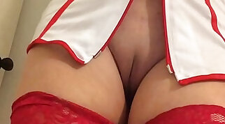 Backshots For The Sexy Ebony Nurse With Capri Cavanni