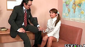 Oral stimulation for a excited teacher