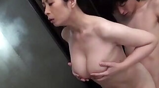Big Tits MILF Licking Cat Male And Fingering Her Pussy