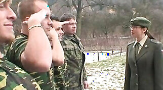 Hardass military slag gets fucked by soldiers