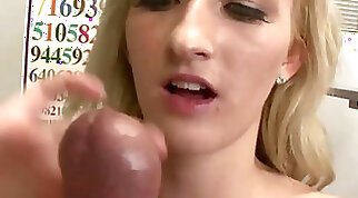 Blondes Hot Step Sister Encourages You To Jerk Your Cock