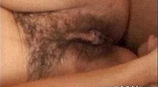 Breathtaking Hairy MILF holding two boners