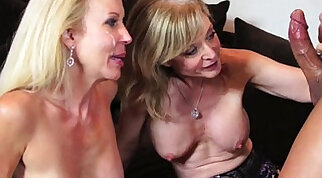 Chained babe Nina Hartley was so boned and smeared with cum