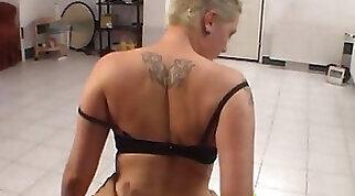 Chubby Czech girl sucks meaty big cock