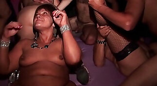 Amateur wife orgy rough couple fucks in this film