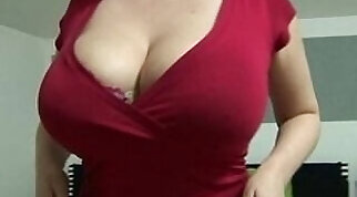Busty Czech Shows Off at A Party