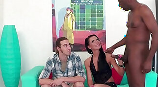 Cuckold husband watches wife with BBC bulls