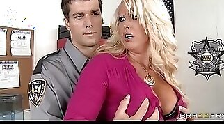 Big tit blonde milf alura jensen is frisked and fucked by a cop